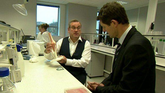 Tissue Regenix managing director Antony Odell and Hugh Pym