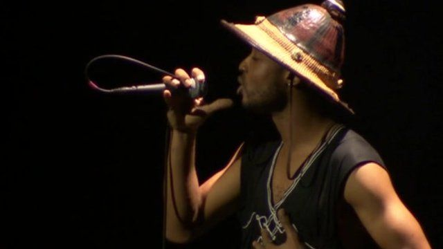 A rapper from Mali on stage
