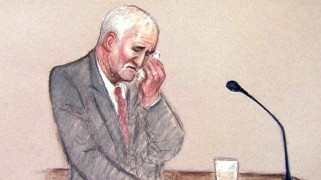 Court drawing showing Mick Philpott - Copyright Julia Quenzler