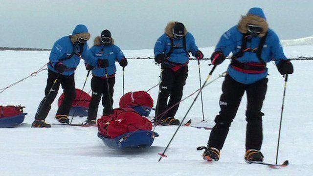 Injured servicemen and women, training in Iceland.