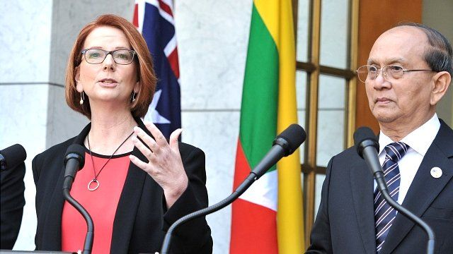 PM Julia Gillard and President Thein Sein