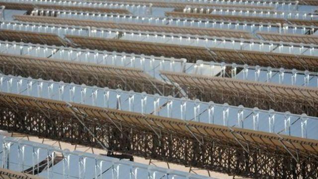 Solar power plant Shams 1 in Abu Dhabi