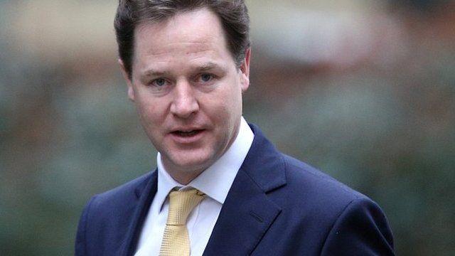 Liberal Democrat leader and deputy prime minister Nick Clegg