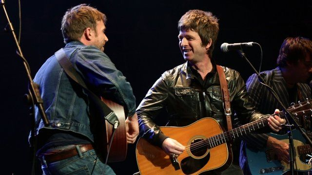 Damon Albarn and Noel Gallagher