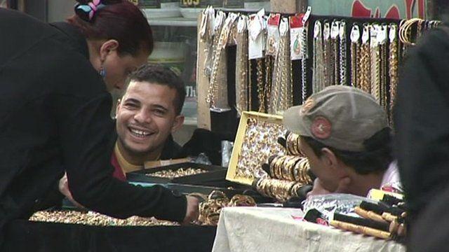 Illegal street vendor in Egypt