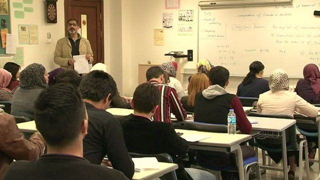 Students in Iraqi Kurdistan university classroom