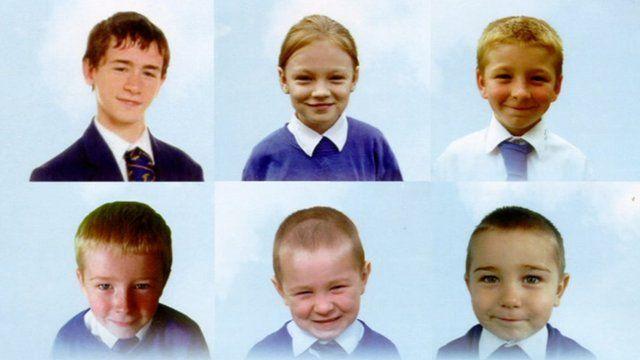 The six Philpott children who died in the blaze