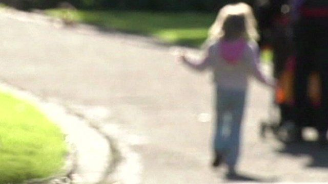 Blurred image of a child