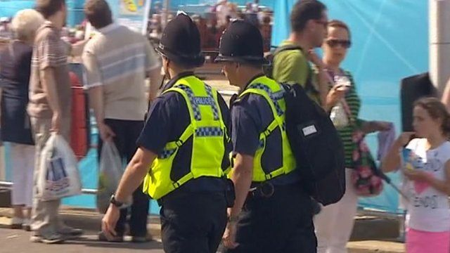 Dorset Police officers at the Weymouth Olympic venue