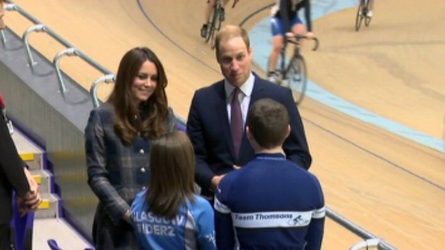 Duke and Duchess of Cambridge meet young people in Emirates Arena