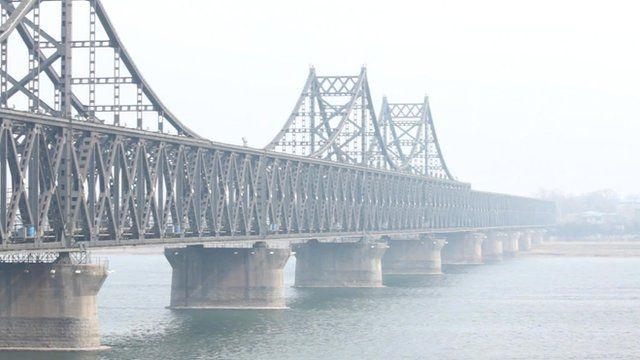 Bridge between China and North Korea at Dandong, China