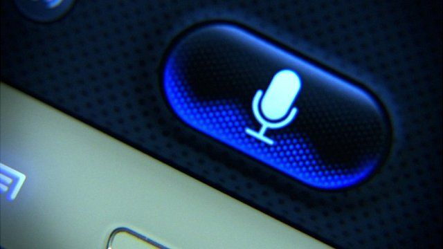 Speech button on a mobile phone