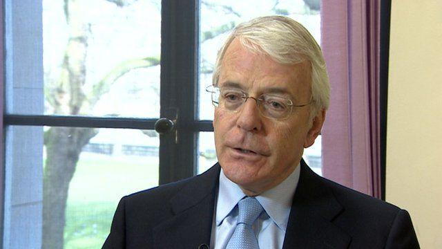 Margaret Thatcher's successor, Sir John Major