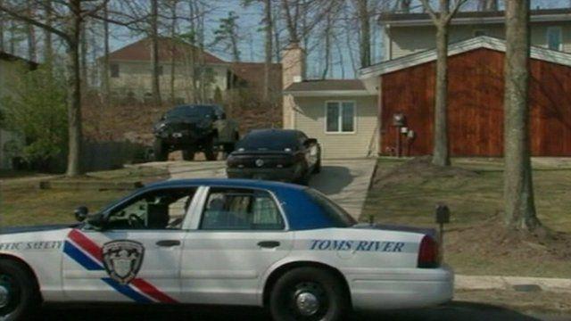 Police car outside a house