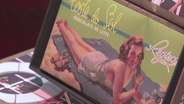 The cover of a box of chocolates