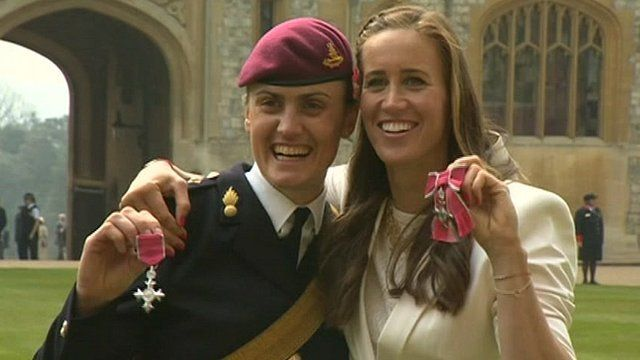Heather Stanning MBE and Helen Glover MBE