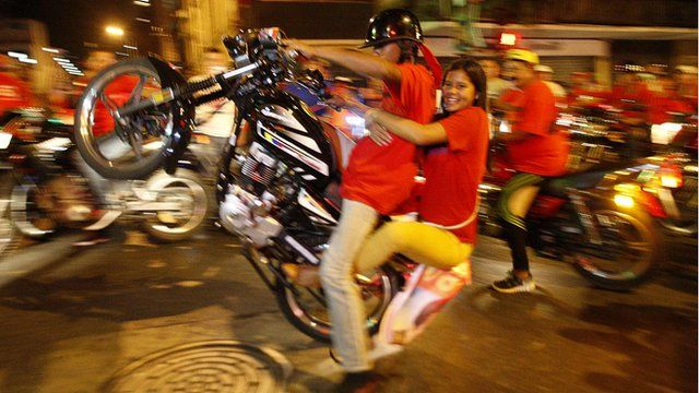 Maduro supporters celebrate in Caracas