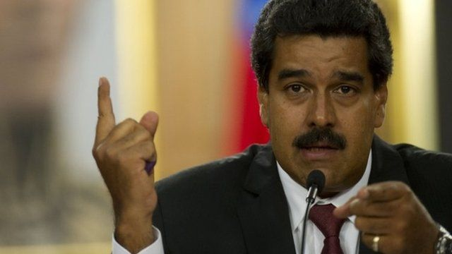 Nicolas Maduro at press conference. 15 April 2013