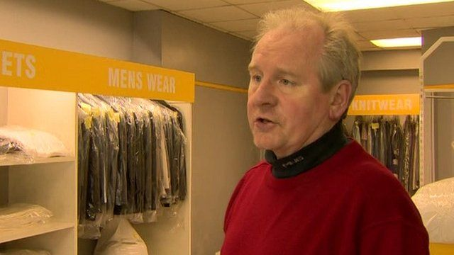 Noel Traynor's dry cleaning business was flooded