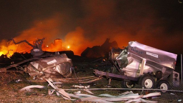 Blast at Texas fertiliser plant