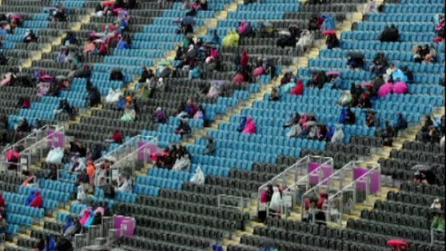 Empty seats at an Olympic 2012 venue