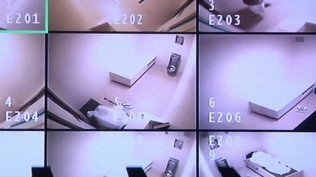 CCTV images from cells at the Guantanamo Bay detention facility