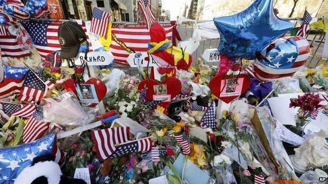 Tributes at scene of bombing