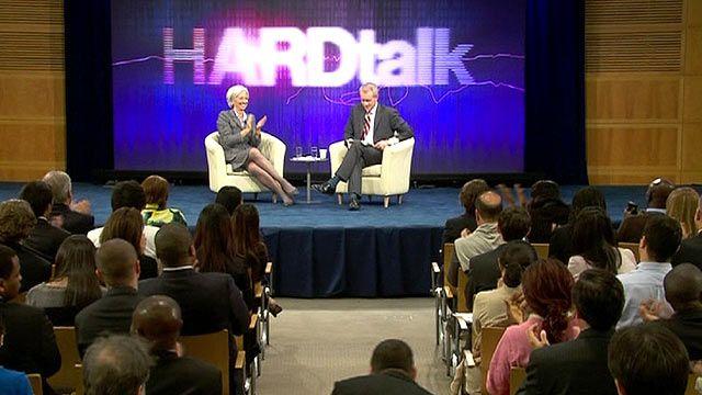 Christine Lagarde with Stephen Sackur