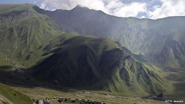 Mountains in Russia's Caucasus region