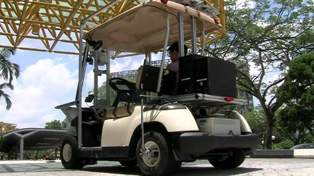 Robot car in Singapore