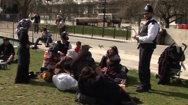 Romanian beggars in Marble Arch