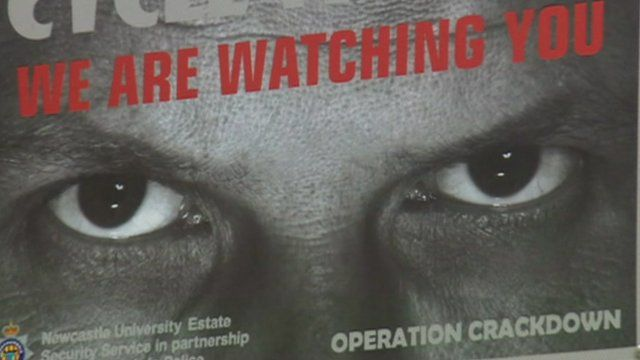 'Watching eyes' poster reduces bicycle thefts