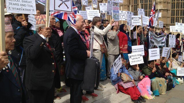 Gurkha protest at Westminster