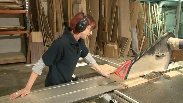 A woman at work