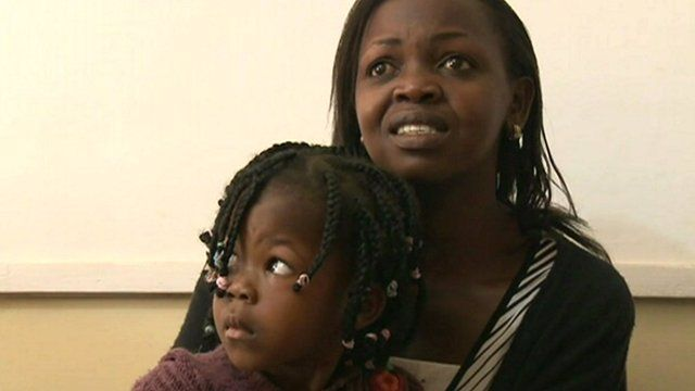 Mother and child in clinic in Nairobi