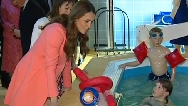 The Duchess of Cambridge visited some of the children who rely on Naomi House's care and support