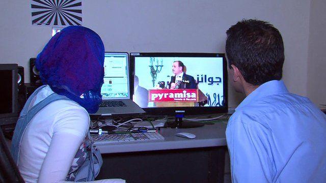 Aleem Maqbool and journalist Nada Mohamed