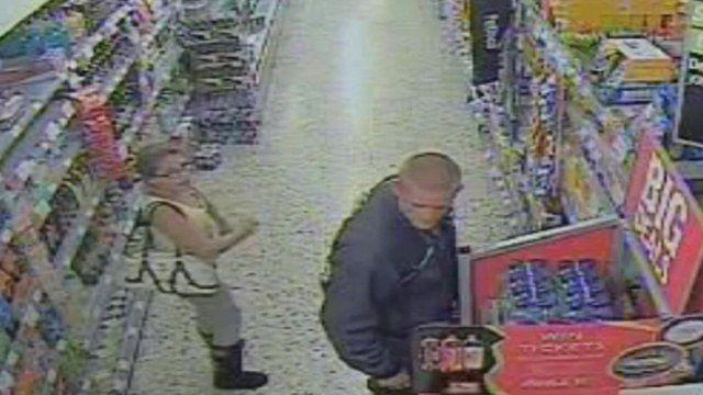 CCTV of Tia Sharp and Stuart Hazell