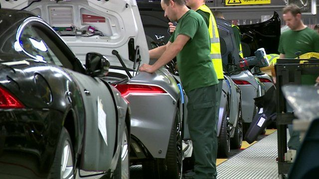 Production line of the Jaguar F-Type