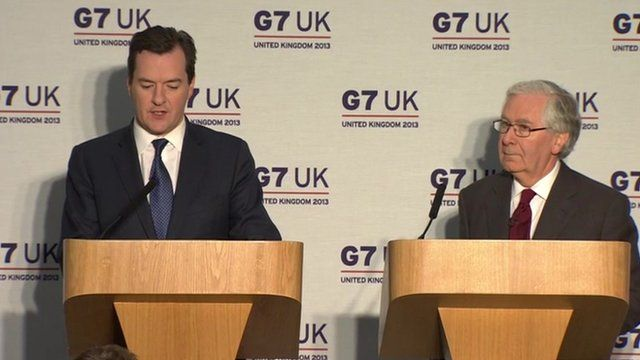 George Osborne and Mervyn King