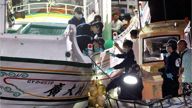 Taiwanese fisherman's boat