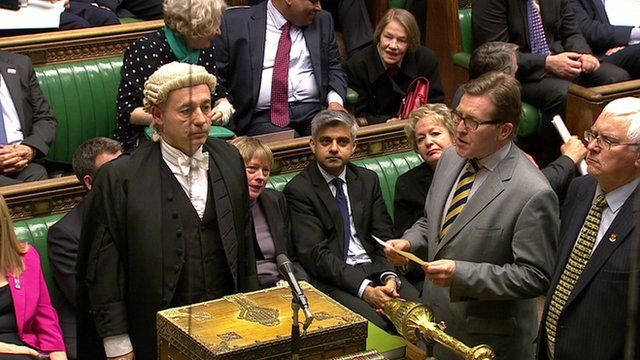 MPs read result of vote
