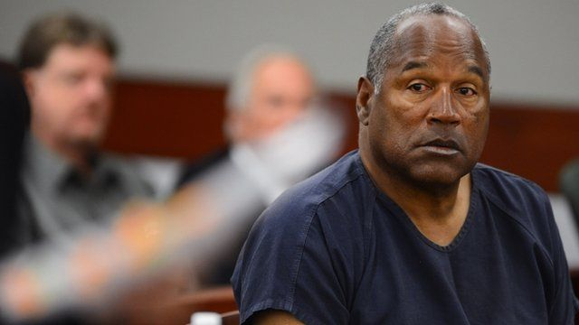 O. J. Simpson appears at an evidentiary hearing in Clark County District Court