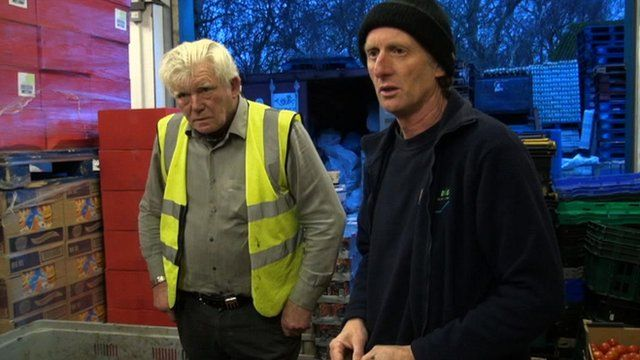 Workers at a food bank in Hull