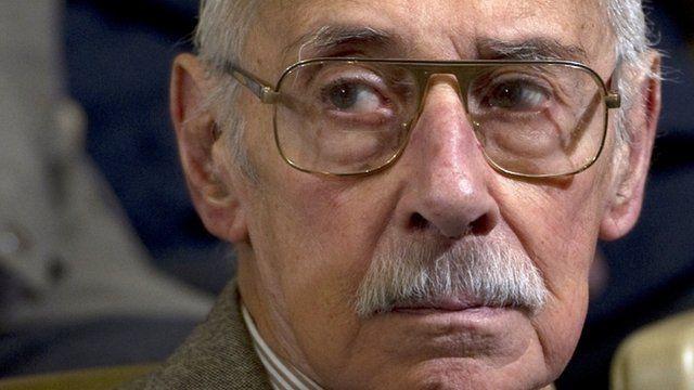 Jorge Rafael Videla during his trial