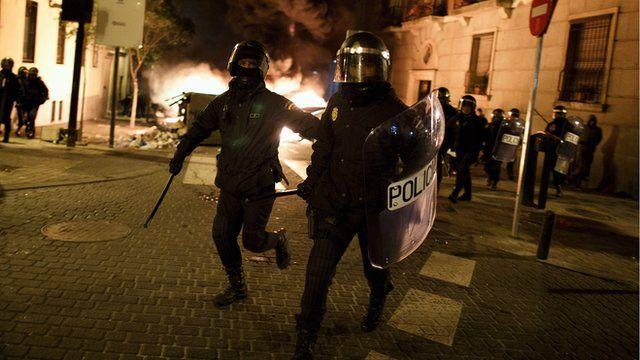 Police in Madrid