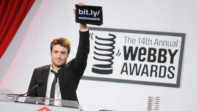 Mashable's Pete Cashmore at the 14th Annual Webby Awards
