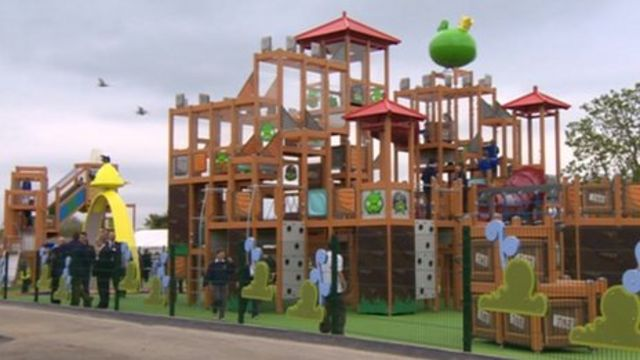lightwater valley 39 s angry birds activity park sparks tourism hope bbc news. Black Bedroom Furniture Sets. Home Design Ideas