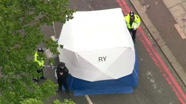 Tent in road