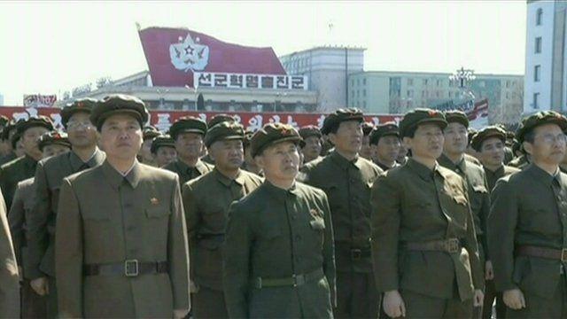Members of the North Korean military